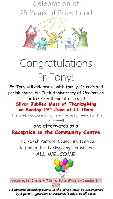 Congrats Father Tony