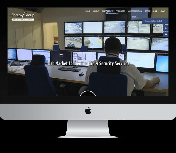 Sharp Group Website Design
