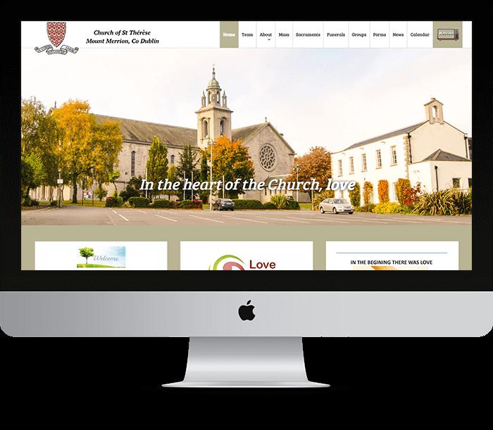 Mount Merrion Parrish Website Design