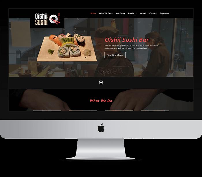 Oishii Sushi Website Design